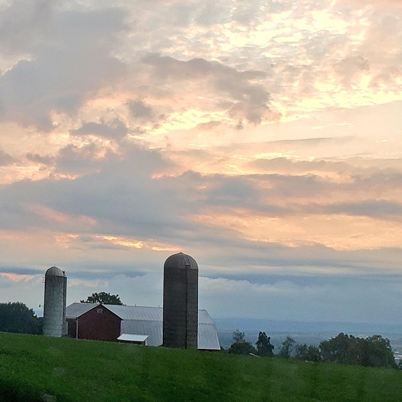 Over the farm (photo)