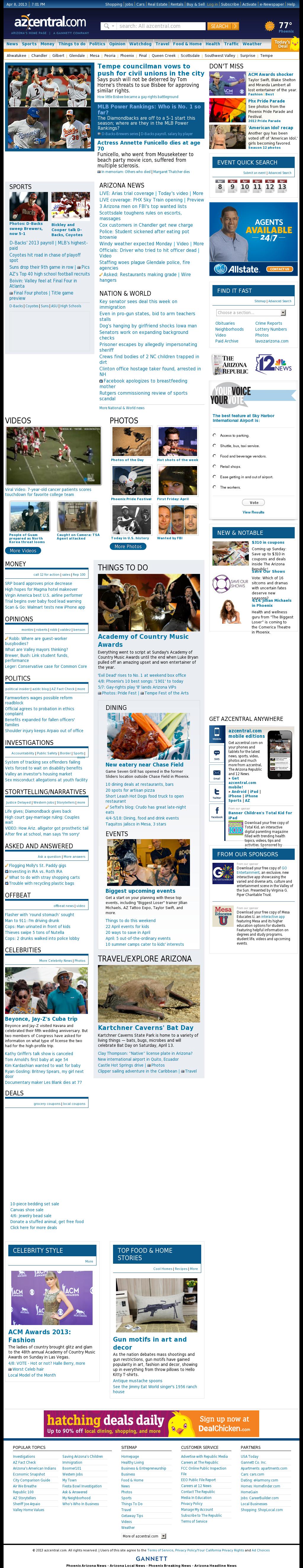azcentral.com at Monday April 8, 2013, 7:01 p.m. UTC