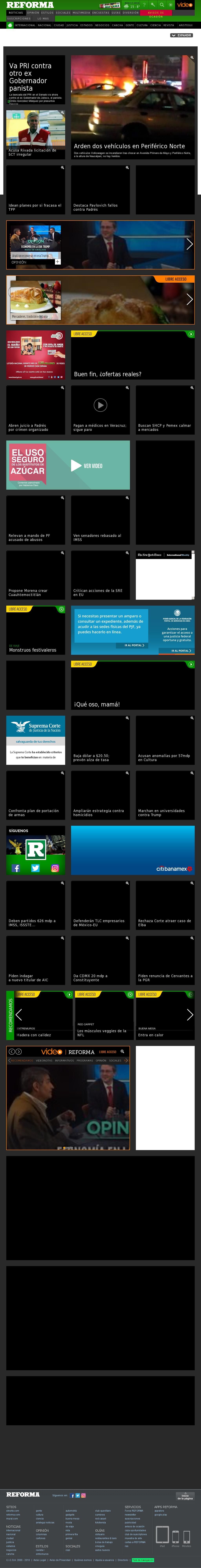 Reforma.com at Thursday Nov. 17, 2016, 4:15 a.m. UTC