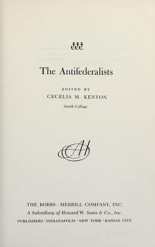 Cover of: The antifederalists | Cecelia M. Kenyon