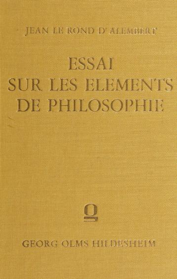 Cover of: Essai sur les elements de philosophie | Jean Le Rond d'Alembert