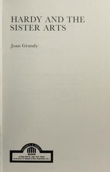 Cover of: Hardy and the sister arts | Joan Grundy