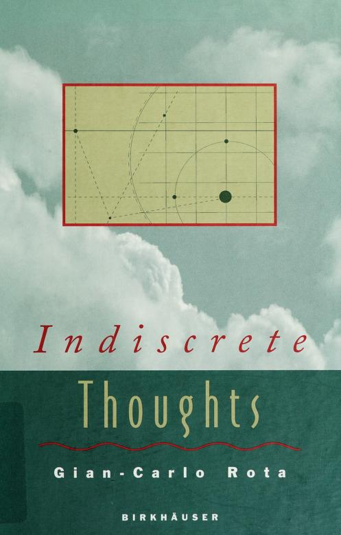 Indiscrete thoughts by Gian-Carlo Rota