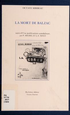Cover of: La mort de Balzac | Octave Mirbeau
