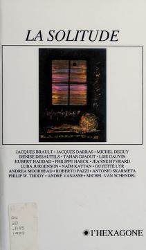 Cover of: La solitude | Rencontre québécoise internationale des écrivains (16th 1988 Montréal, Québec)