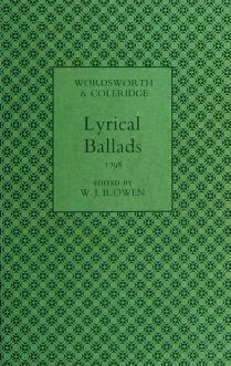 Cover of: Lyrical ballads, 1798, [of] Wordsworth and Coleridge   William Wordsworth