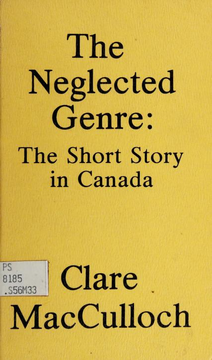 The neglected genre by MacCulloch, Clare, l944-
