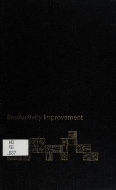 Cover of: Productivity improvement | Donald C. Burnham