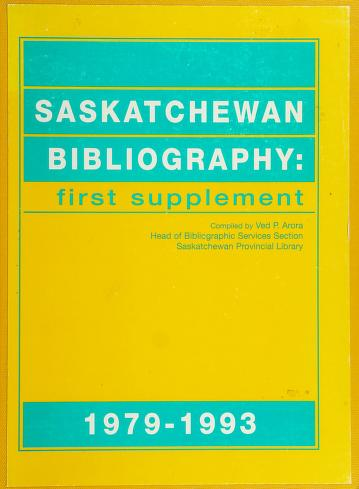 Cover of: Saskatchewan bibliography | Ved Arora